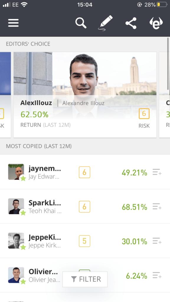 eToro copy trading - best stock market app australia
