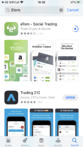 eToro app download