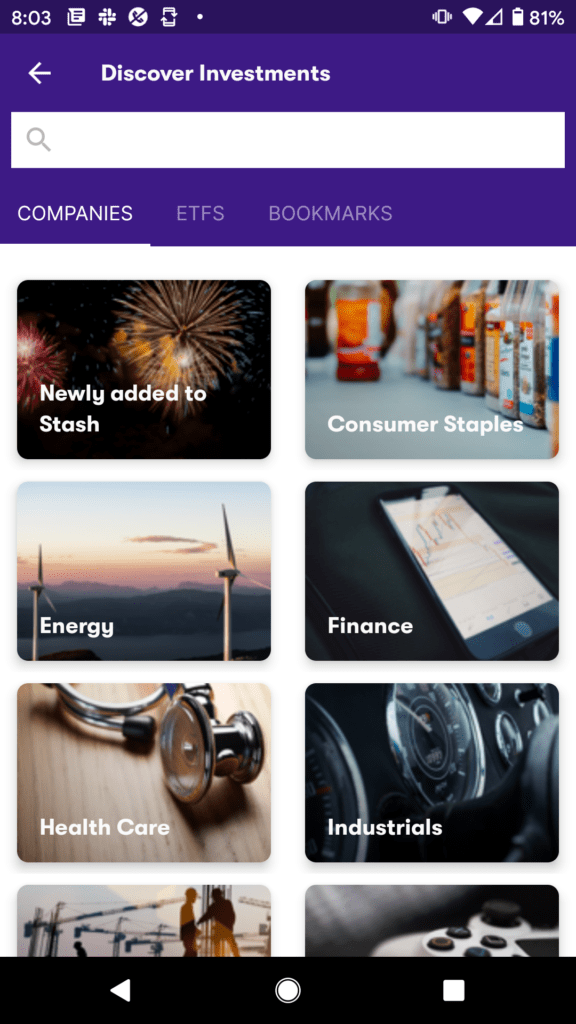 Stash app research