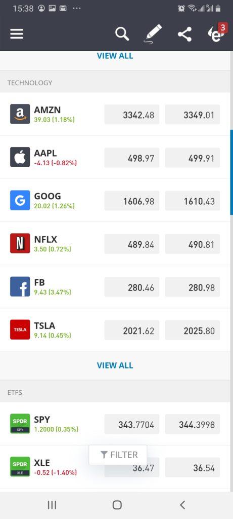 eToro stock app - best investing apps australia