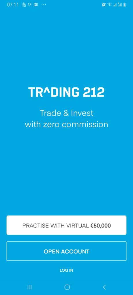 Trading 212 demo account