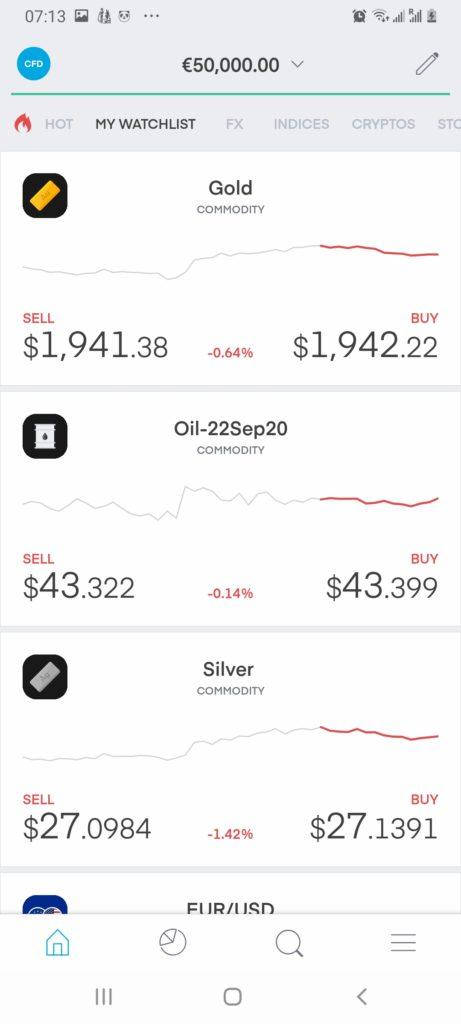 Trading 212 app