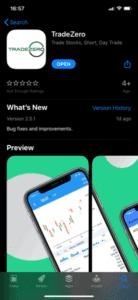 TradeZero App Store