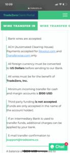 TradeZero Deposit Funds App