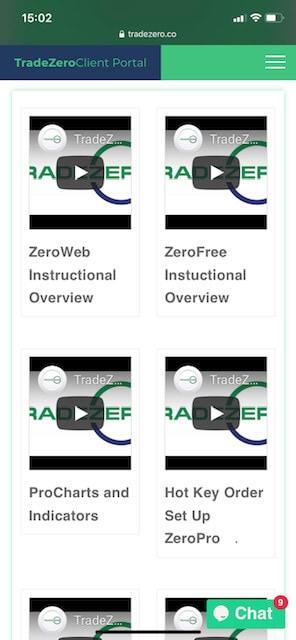 TradeZero Training videos