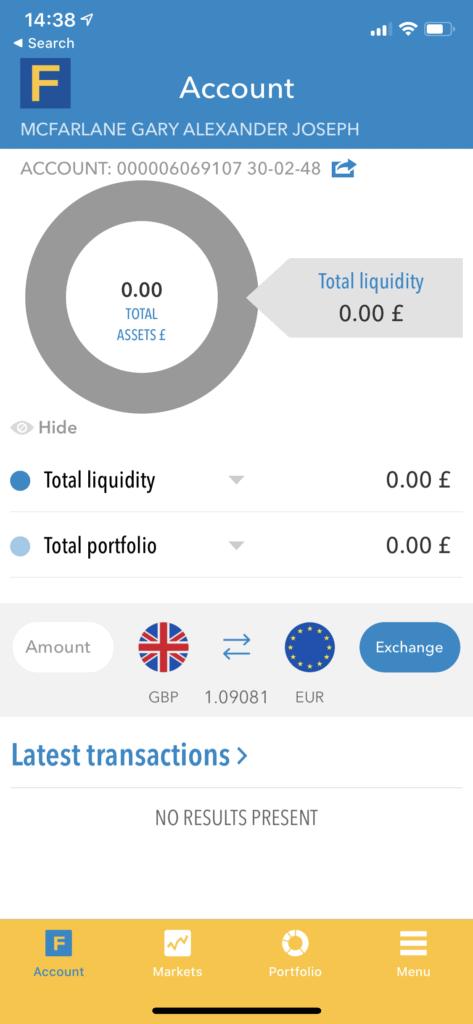 fineco stock app landing page
