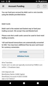 Forex.com app deposit funds