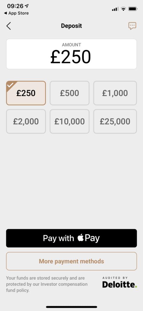 capital.com deposit £250