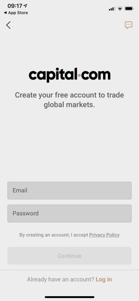 capital.com email password