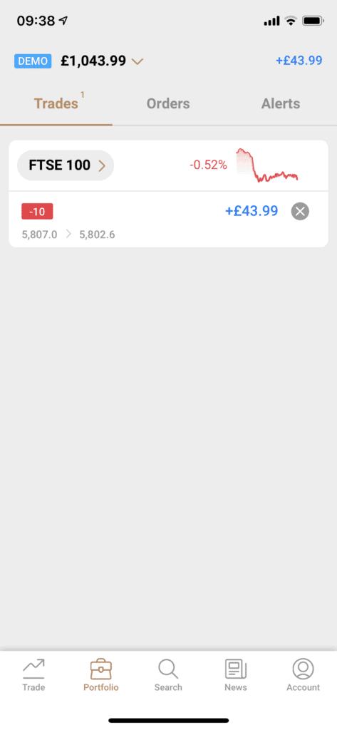 capital.com app sell order ftse