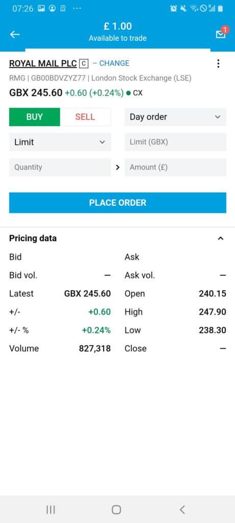 Buy shares at Degiro