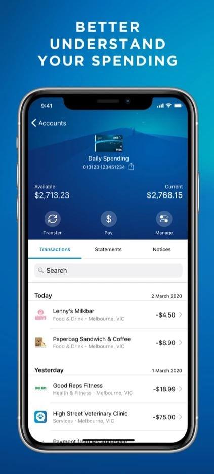 ANZ App Track Spending