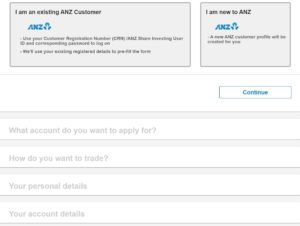 ANZ Account Application