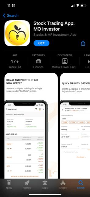 MO Investor app store