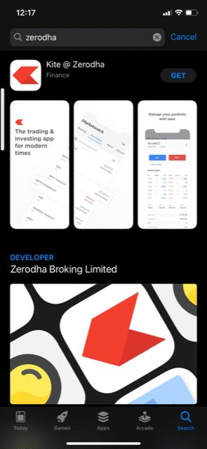 Zerodha Kite app download