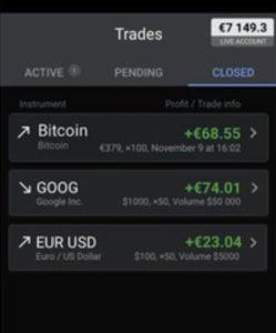 Libertex Mobile App Trades