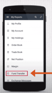 IIFL Markets app transfer funds