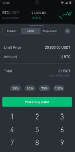 Binance App Order Types