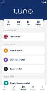 Luno App Wallets