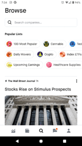Robinhood best etf App Discover Lists