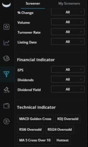 Webull Stock Screener