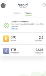 eToro App Crypto Trades