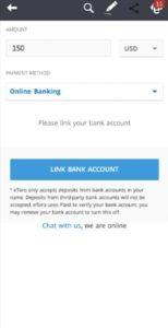 eToro Deposit Funds on Mobile App