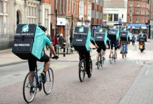 Deliveroo delivery riders