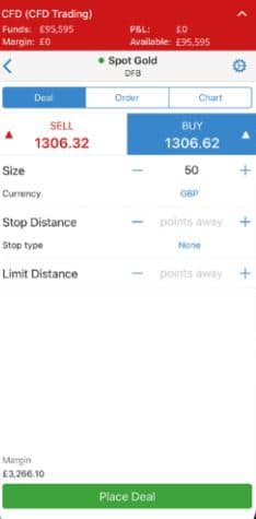 IG Mobile App Gold Trading