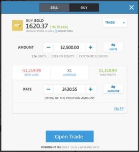 eToro Gold Trading