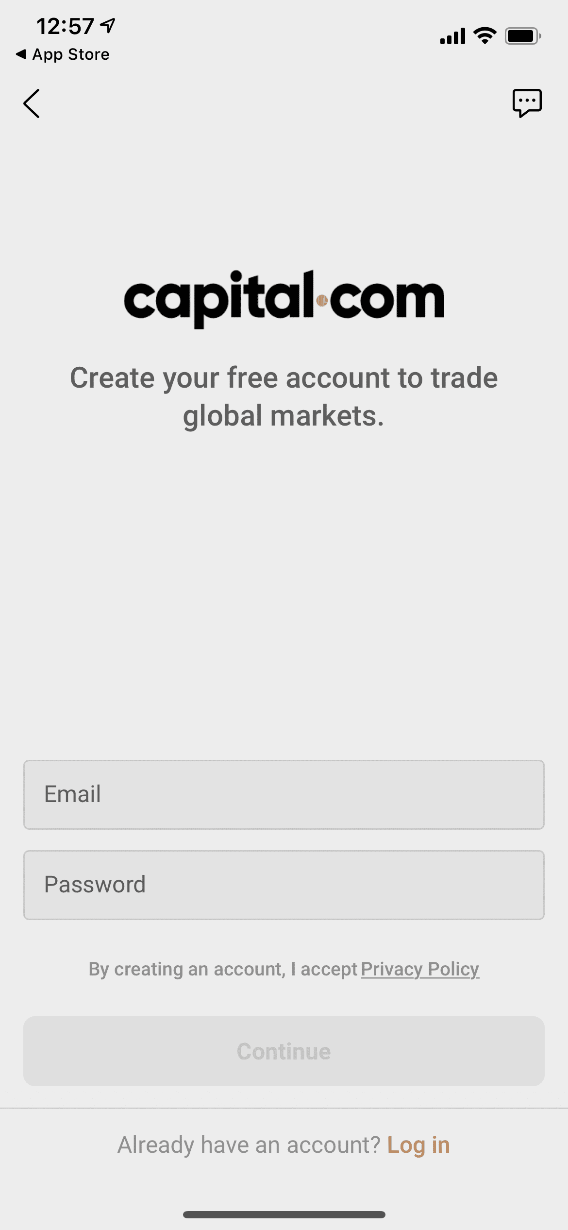 capital.com log in