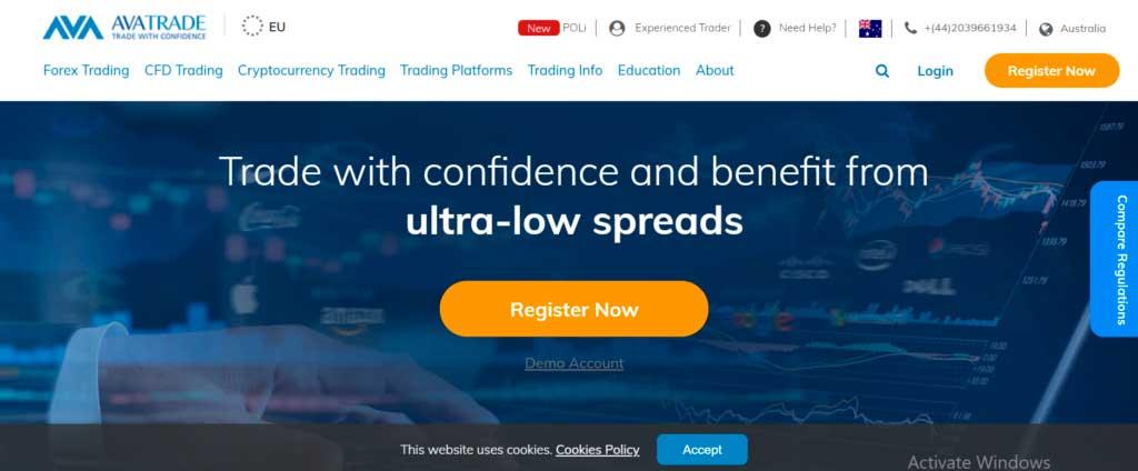 avatrade homepage - best forex broker